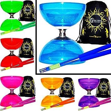 Bacchette in Fibra per Diablo Flames N Games Borsa per Diabolos. Verde Diabolo + Verde Bacchette Juggle Dream Diabolo Quartz con Tripla Violazione