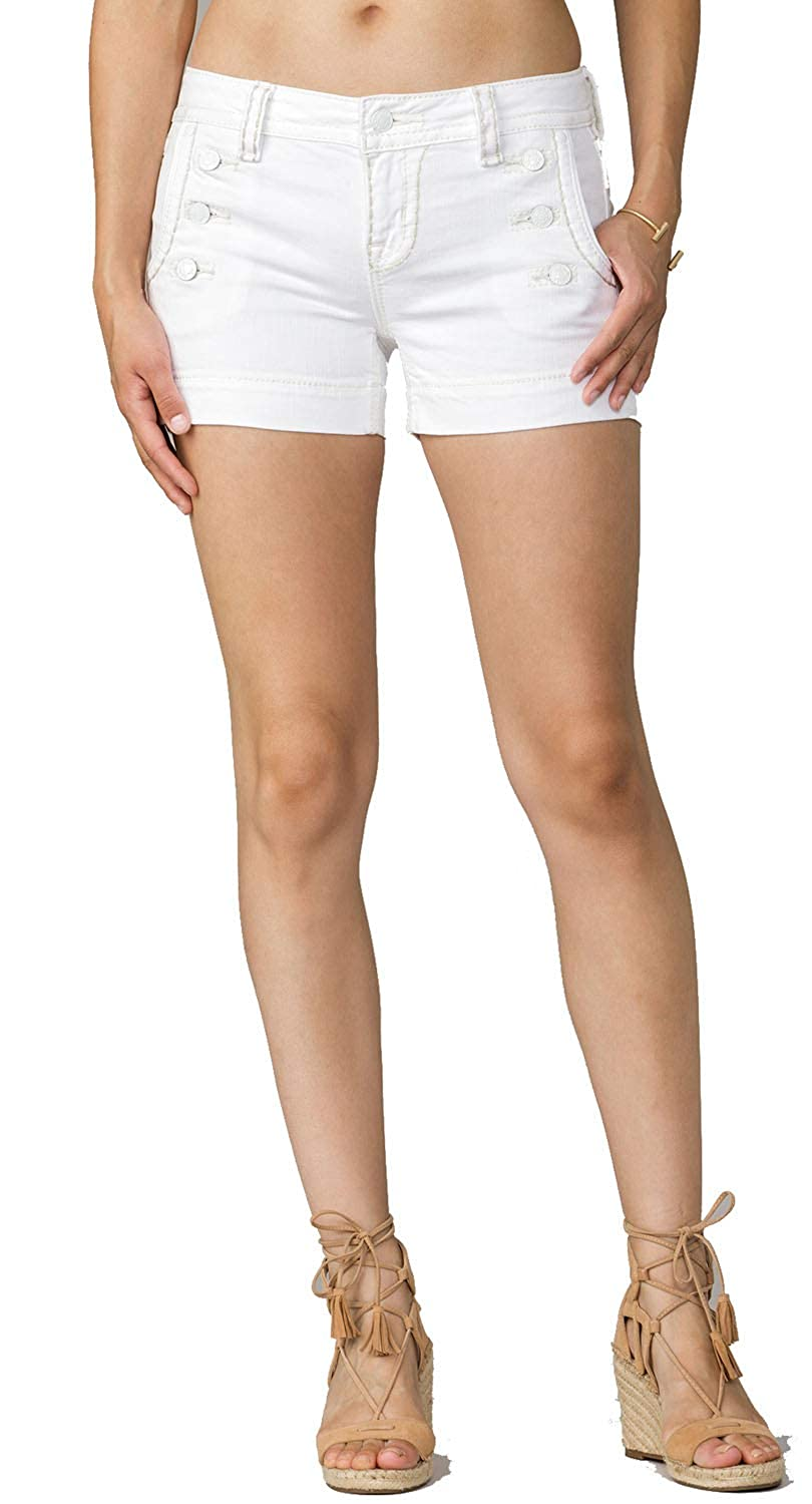 Amazon.com: Miss Me Blanco de la mujer Denim marinero Corto ...