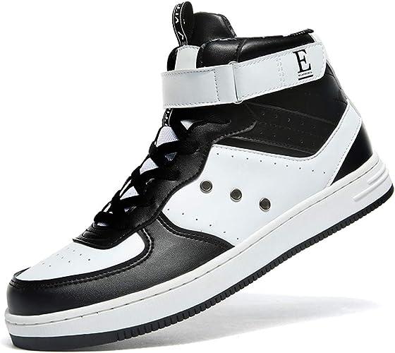 WETIKE Men Sneakers High Top Casual Women Sports Shoes Fashion Leather Running Walking Shoes Street Skateboard Shoes Slip on