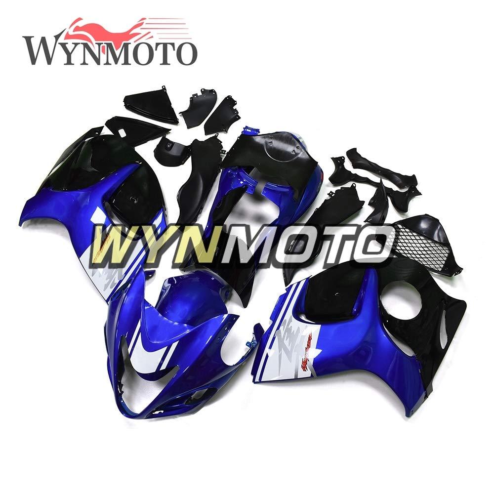 WYNMOTO フルオートバイインジェクションブルーブラックフェアリングキットのスズキ GSXR1300 はやぶさ年 2008-2016 09 11 12 13 14 15 16 オートバイボディキット ABS プラスチックボディ   B07MFNWTXK