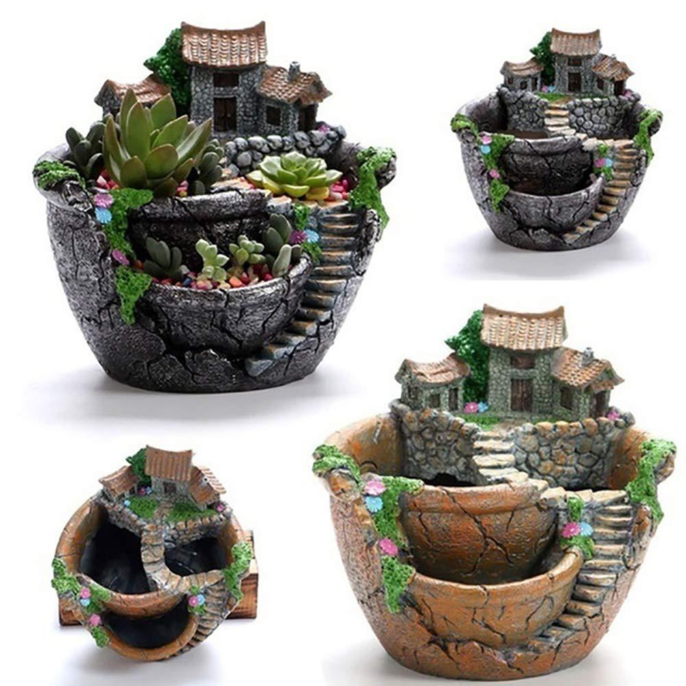 housesweet Creative Micro Landscape Pflanzentopfhalter Garten Design Sukkulenten DIY Container