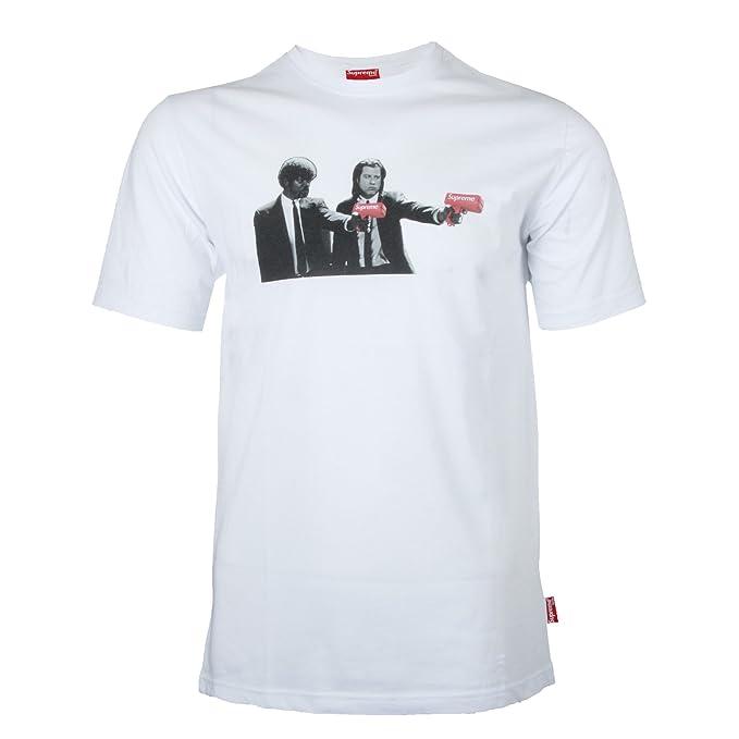 Supreme Spain - Camiseta - Redondo - para Hombre Blanco XL: Amazon.es: Ropa y accesorios