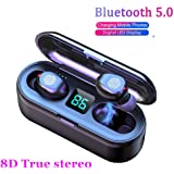 2020 Upgraded Bluetooth Earbuds,AEDILYS 5.0 Earbuds with 2000mAh Charging Case LED Battery Display 60H Playtime in-Ear Touch Bluetooth Headset IPX7 Waterproof True Wireless Earbuds for Work Sports