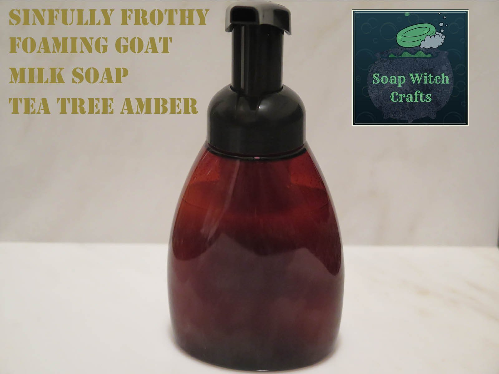 Sinfully Frothy Foaming Goat Milk Soap - Tea Tree Amber Scented