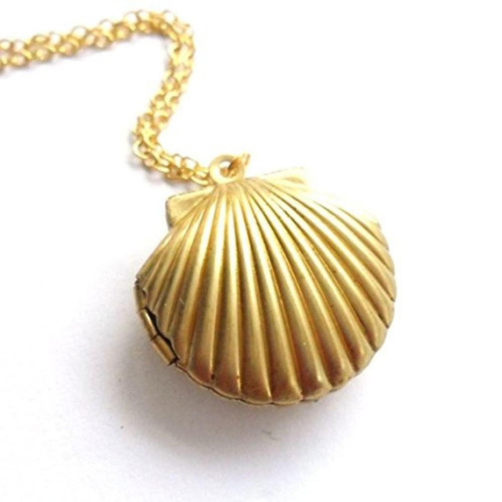 Amazon.com: laimeng Seashell camafeo colgante oro camafeo ...