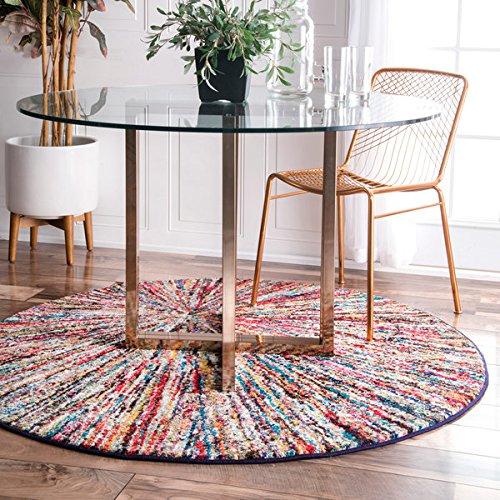 nuLOOM Retro Rainbow Firework Multi Kids - Round Cowhide Rugs Shopping Results