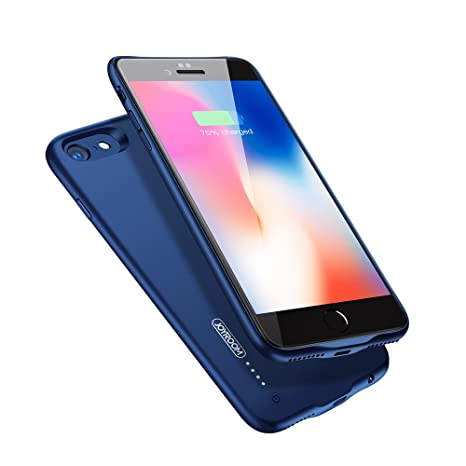 "I Phone 8/7 Battery Case, Joyroom 2800m Ah Portable Charge Case For I Phone 8 / I Phone 7 4.7"" Extended Battery With Magnetic Function, 3.5mm Headphones Acceptable (Blue) by Joyroom"