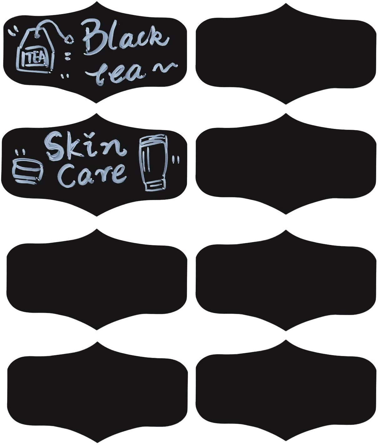 Pantry Labels Reusable Chalkboard Storage Stickers for Mason Jars,Wine Glasses,4x2.2 Inch Stickers,80 Pcs Per Pack