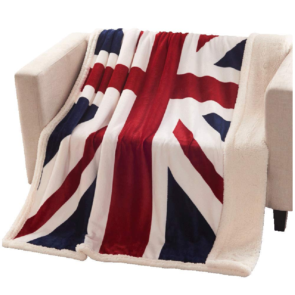 Brandream Super Soft Fleece Blanket British Flag Throw Blankets Teens Boys Adults Cuddling Blankets 51 X63