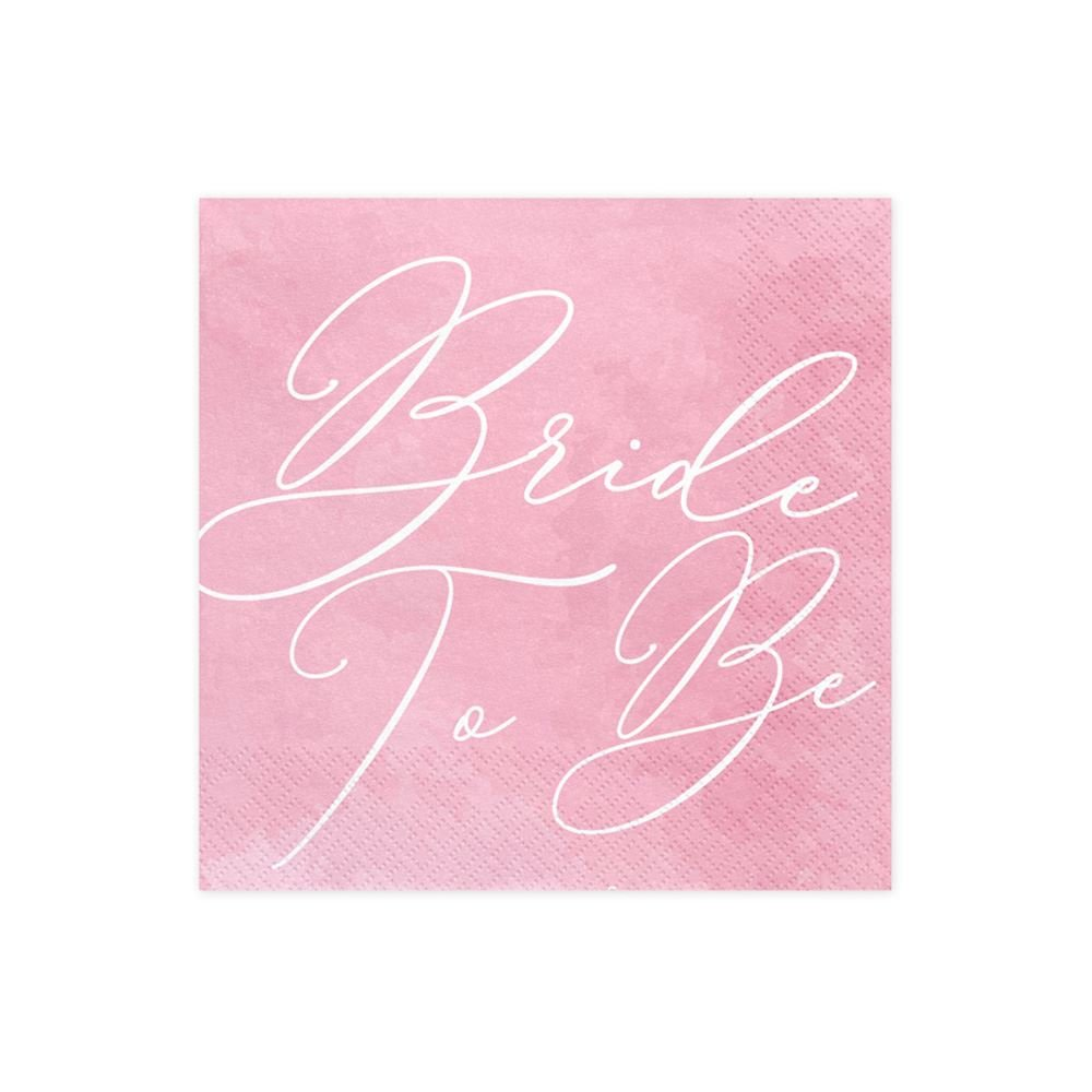 Luck and Luck Paper Party Napkins Bride to be Pack of 20 Hen Party 33 x 33cm
