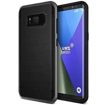 VRS Design - Carcasa para Samsung Galaxy S8 de Doble Capa, Resistente a los Golpes, Color Negro