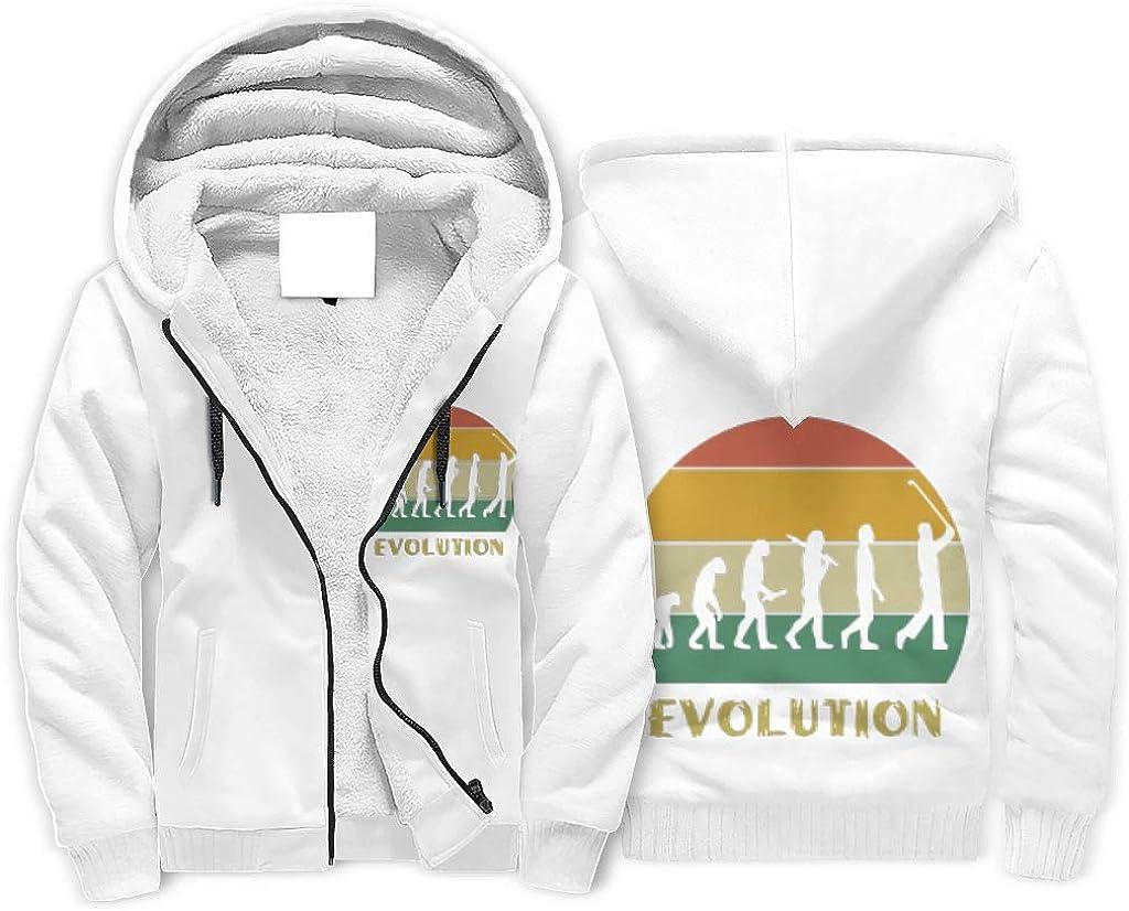 Qingyueangel Men Evolution Golf Fleece Zipper Hoodie - Sweatshirt for Sports