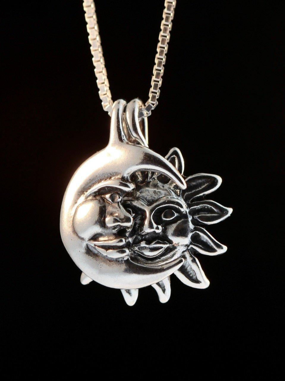 sun pendant necklace women\u2019s gift Dainty sun silver necklace  birthday gift Sun charm necklaces celestial necklace