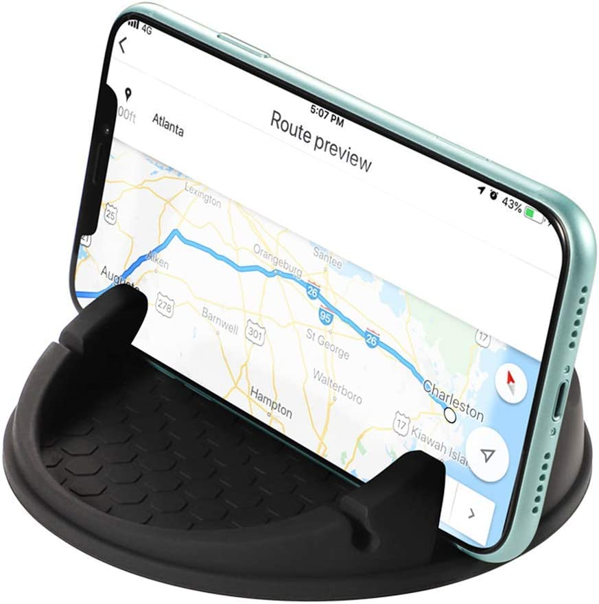 GPS Devices Android Smartphones AUTDER Car Phone Holder Wireless Car Mount Anti-Slip Desk Mount Silicone Car Pad Mat for Various Dashboard Car Phone Holder QC 3.0 Silicone Anti-Slip Desk Phone Stand