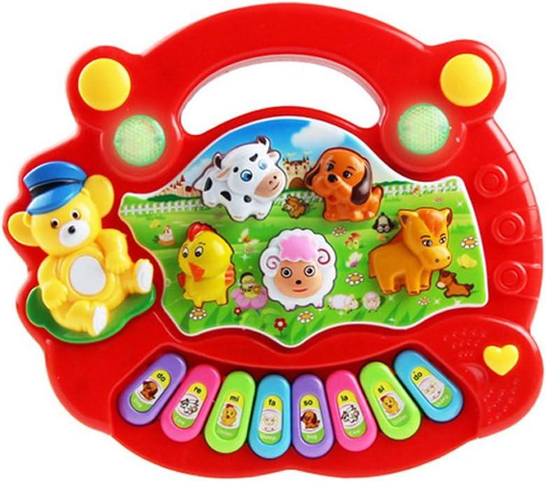 YeahiBaby Baby Piano Music de Granja de Animales Musica Amarillo