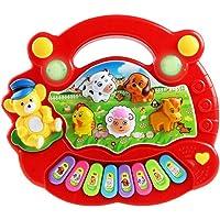 TOYMYTOY Teclado Piano Bebé Juguete Musical Bebé Educativo Animal de Granja Juguete de Música Rojo