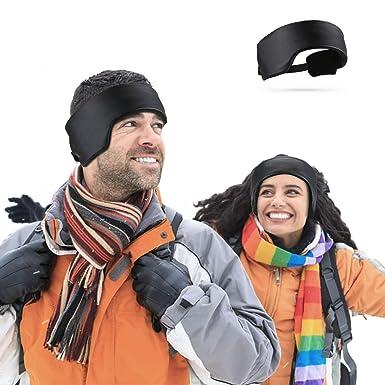 b82079adb7279f Hommie Weicheste Ohrwärmer Stirnbänder Unisex Headbands Stirnband für Herren  & Damen Einstellbar Winddicht Ohrenschützer Dicke Winter