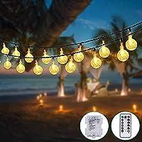 Guirnalda Luces Pilas [2 Pack], Kolpop 3m 30 LED Bola de Cristal Luces LED Pilas, Guirnalda Bombillas Cadena de Luces…