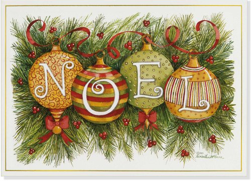 Noel Ornaments Small Boxed Holiday Cards (Christmas Cards, Greeting Cards)