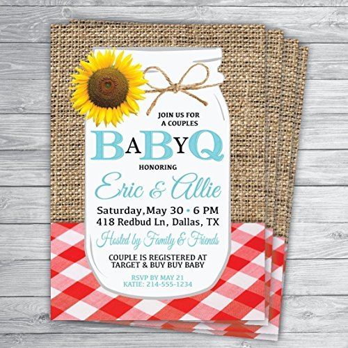 5x7 BabyQ Baby Shower Invitations...Can be customized for