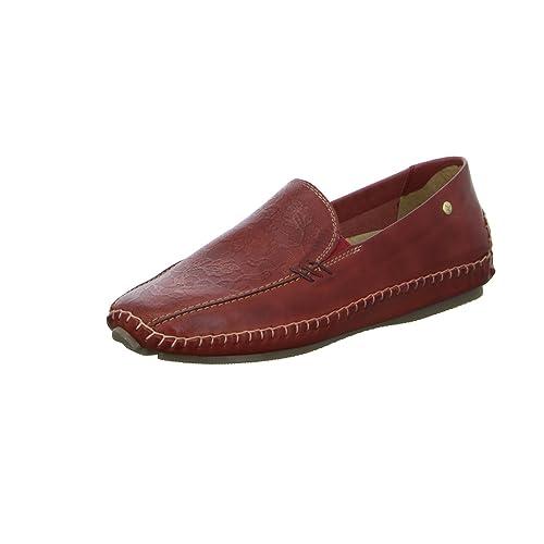 Pikolinos - Mocasines de Piel para mujer, color rojo, talla 39 EU: Amazon.es: Zapatos y complementos