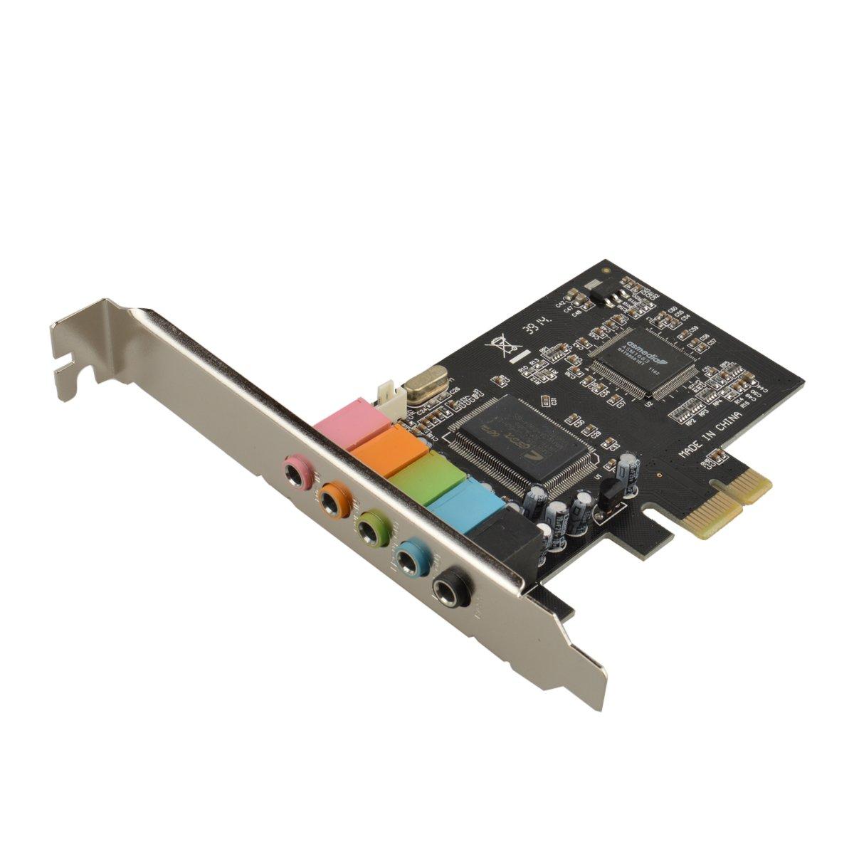 U-Mest® PCI Express 5.1 PC Sound Card 6 Channel Surround 3D Audio CMI8738