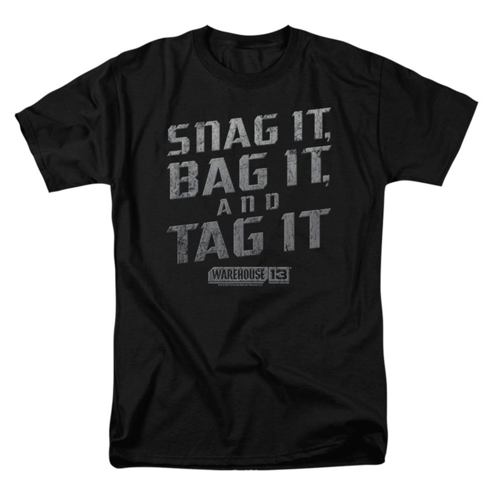 Warehouse 13 TV Show Snag IT Bag IT and Tag IT Licensed T-Shirt All Sizes
