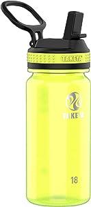 Takeya Tritan Sports Water Bottle with Straw Lid, 18 oz, Wild Lime