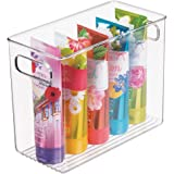 mDesign Slim Plastic Storage Container Bin with Handles - Bathroom Cabinet Organizer for Toiletries, Makeup, Shampoo…