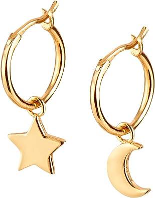 Brandlinger ® Atelier Ohrringe mit Mond und Stern Anhänger