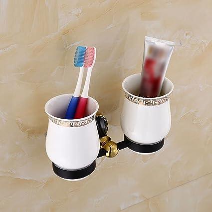 ZHUCHANGJIANG ZC&J Pared del baño de hotel portador montado en la taza del cepillo de dientes