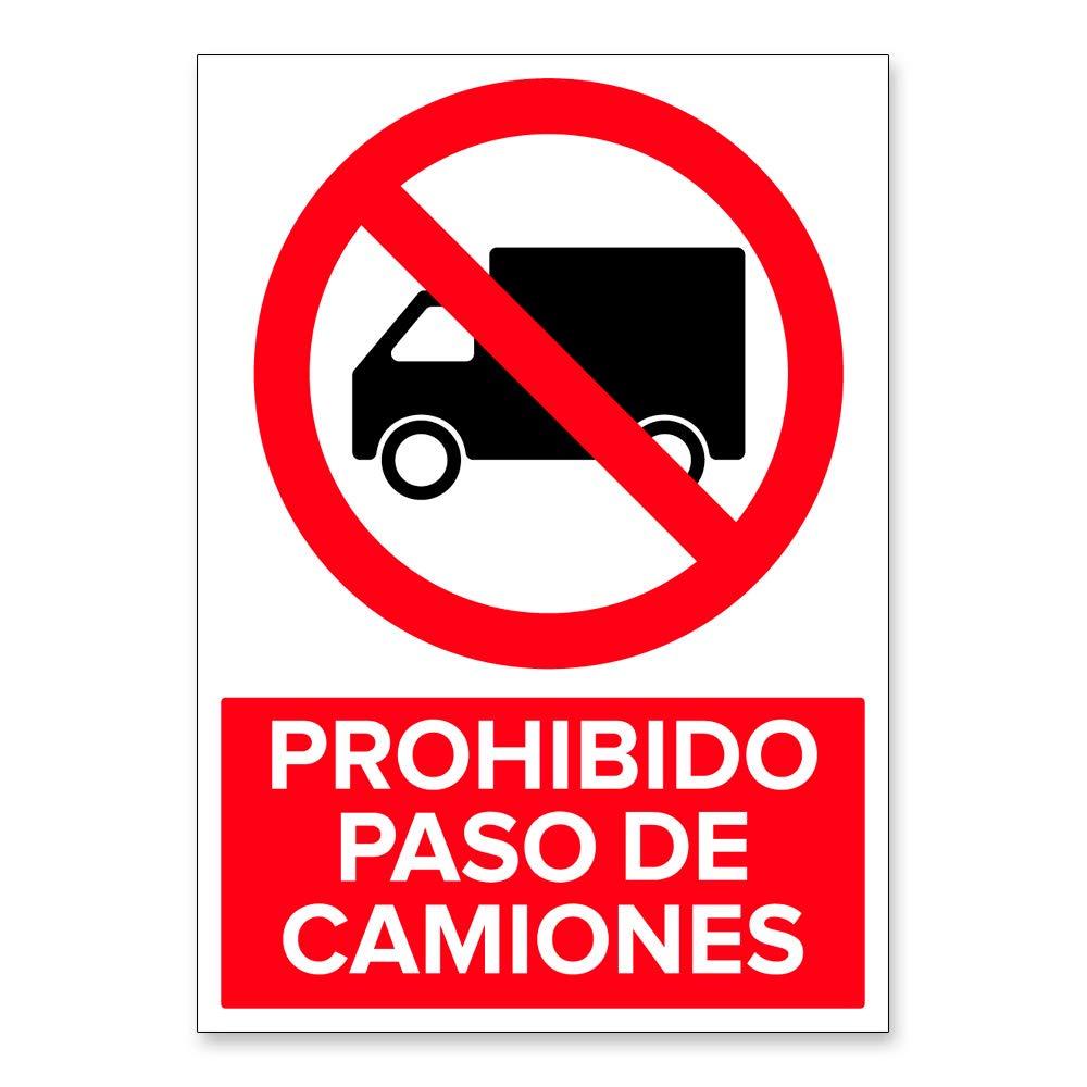Señal Prohibido Paso de Camiones | Señalética en Material ...