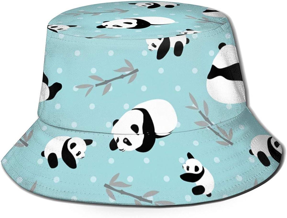 Oso Panda de Dibujos Animados Sombrero del Cubo Sombreros de Pescador Gorra Empacable de Verano Regalo del día del Padre