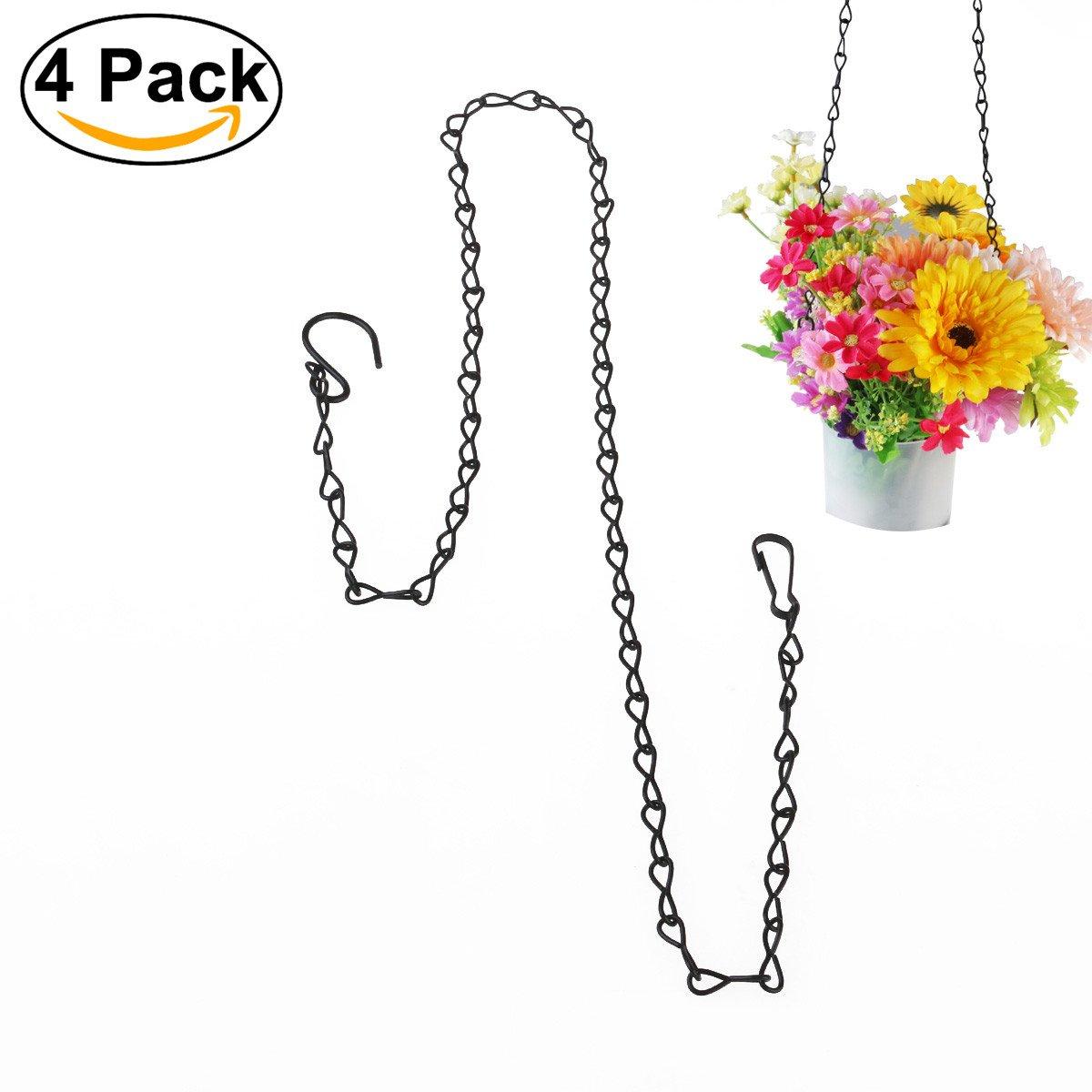 UEETEK 4pcs Hanging Chain for Bird Feeders Planters Lanterns Flower Basket 35-inch