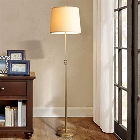 CHENXIAOJUN Lamparas de pie Lámpara de pie Americana for Las Luces de la Sala Dormitorio Simple Estudio de Noche Habitación del Hotel Copper Tela Decoración Lámparas lampara pie Salon: Amazon.es: Hogar