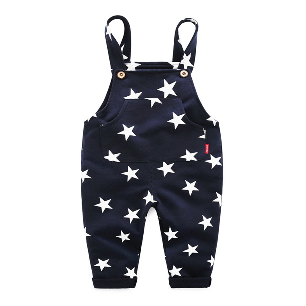 Mud Kingdom Boys Overalls Casual Trousers Star 3T Navy Blue