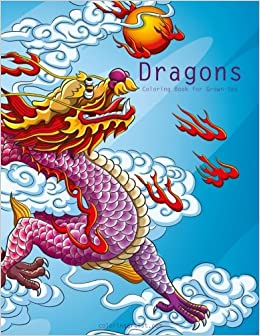 amazoncom dragons coloring book for grown ups 1 volume 1 9781518877827 nick snels books - Coloring Book For Grown Ups