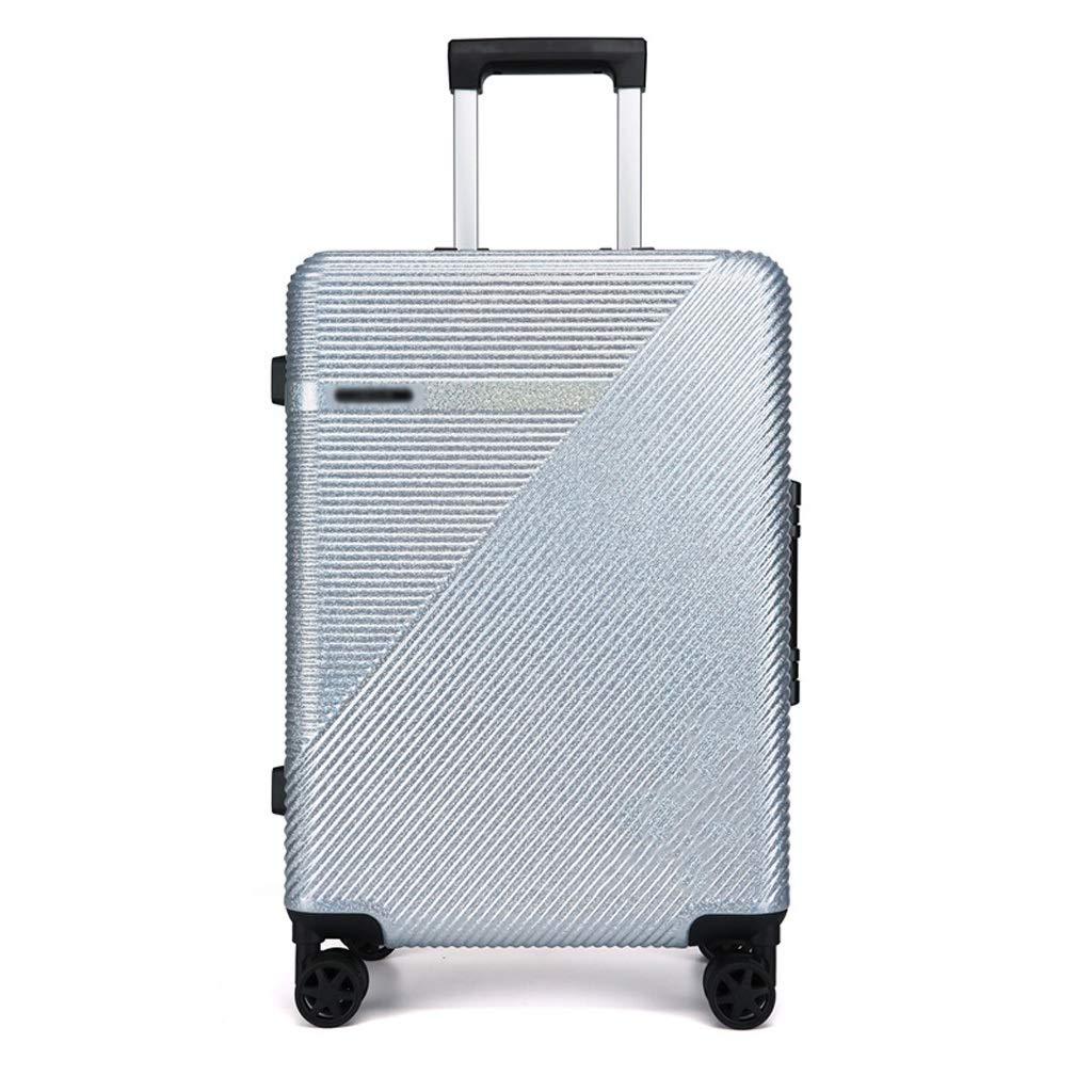ZHAOSHUHLI 旅行トロリーケース明るい顔スター学生スーツケース女性アルミフレームスーツケース男性スーツケーストロリーケースパスワードハードボックス (Color : Silver, Size : 20'') B07R1LB6KG Silver 20''