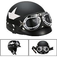 KKmoon Casco de Moto, Casco Abierto Half Helmet
