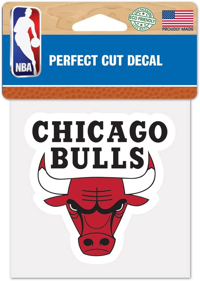 """WinCraft NBA Chicago Bulls Perfect Cut Color Decal, 4"""" x 4"""""""