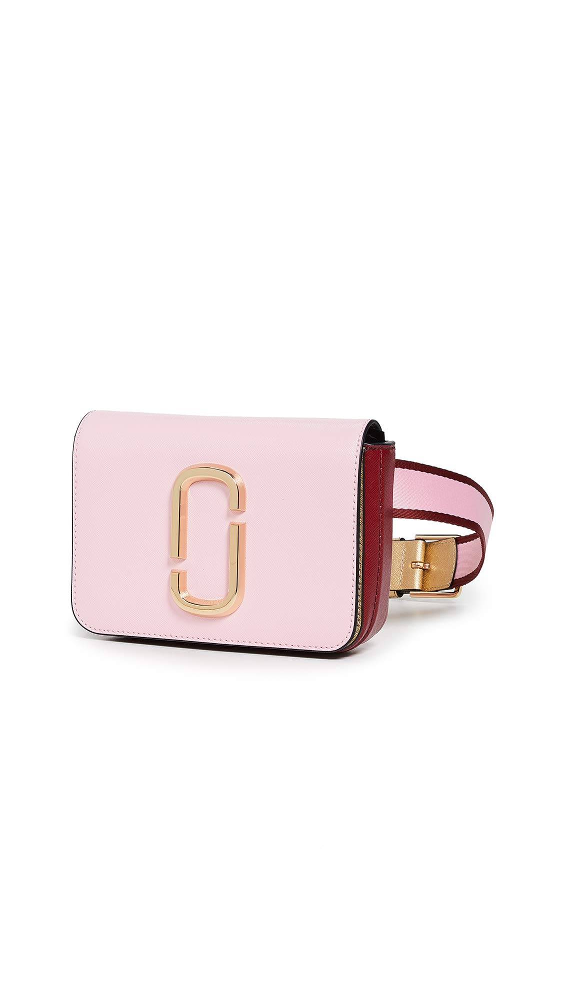 Marc Jacobs Women's XS/S Hip Shot Convertible Belt Bag, Pink/Red, One Size