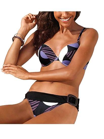 5ad17f848e Bruno Banani push up bikini, purple/multi-coloured. - -: Amazon.co.uk:  Clothing