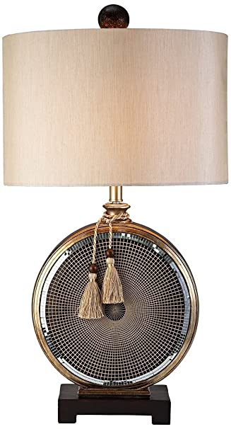 OK LIGHTING 32 in. Antique Brass Mosaic Table L&  sc 1 st  Amazon.com & OK LIGHTING 32 in. Antique Brass Mosaic Table Lamp - Indoor ... azcodes.com
