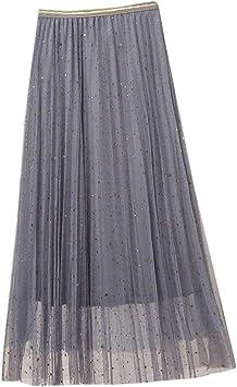 Falda de Malla Transparente LeeMon Maxi Rock Boho para Mujer ...