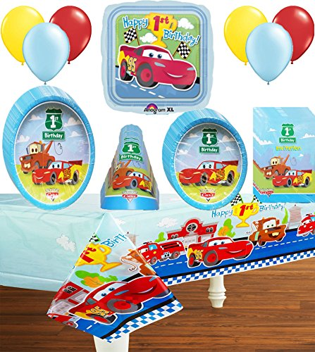 Disney Cars 1st Birthday Deluxe Party Pack Bundle