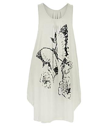 Femme Long Papillon Paillette Top Femmes Tunique Jersey Grande Taille -  Beige, EU 44- 2d9fbc2fc4d2