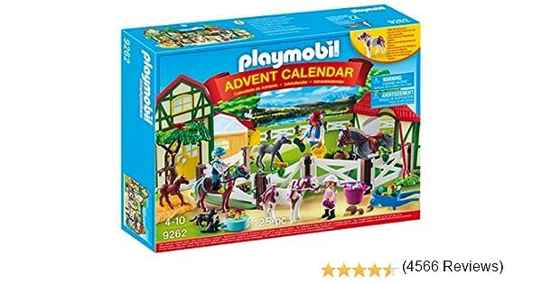 PLAYMOBIL Calendario de Adviento 9262 Granja de Caballos, A partir de 4 años, multicolor: Amazon.es: Juguetes y juegos