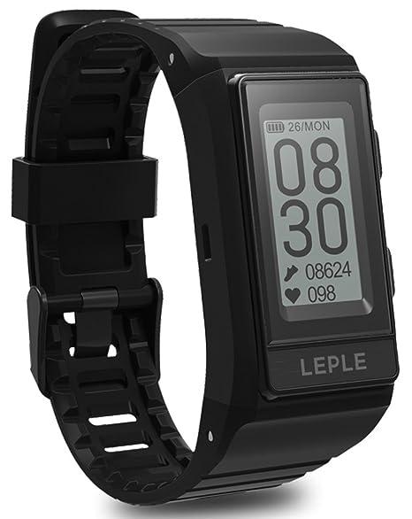 Reloj GPS impermeable Fitness Tracker Deportes Actividad Pulsómetro Monitor Bluetooth Pulsera Inteligente