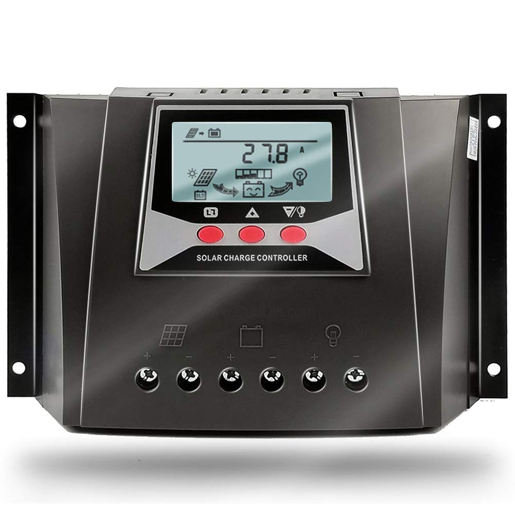 SolaMr 60A Controlador Solar de Carga 12V/24V/36V/48V Voltaje de Identificación Automática Regulador Inteligente con Pantalla LCD para Sistemas Solares Domésticos - WP6048D