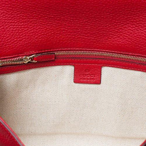 821017d56f45 Gucci Soho Leather Clutch Envelope Red Bag Tassel Handbag Bag Purse Italy  New